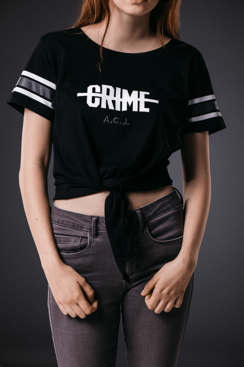 Crime Shirt woman black