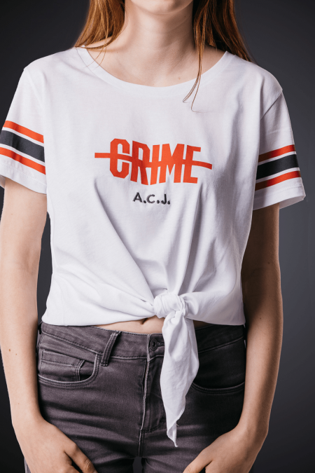 Crime Shirt woman white (limitiert)